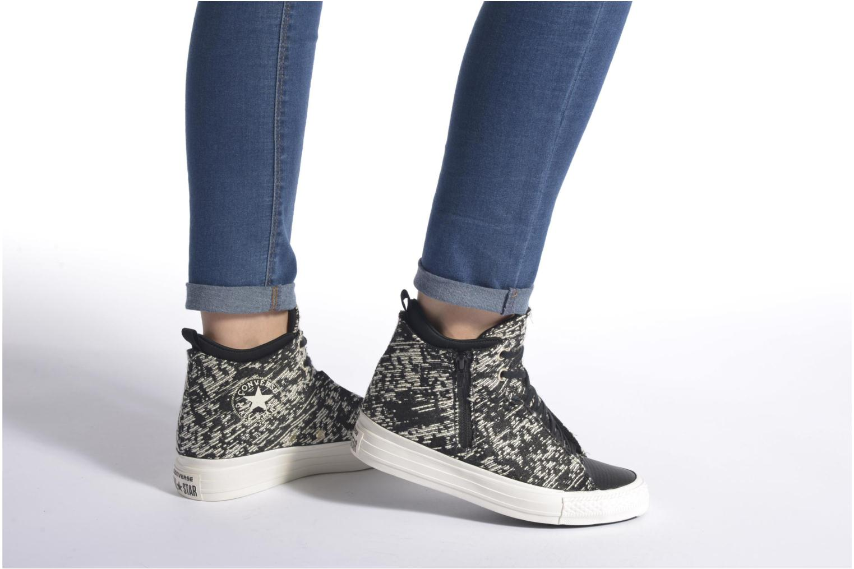 Sneakers Converse Ctas Selene Winter Knit Mid Nero immagine dal basso