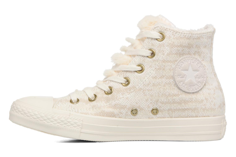 Sneaker Converse Ctas Winter Knit/Fur Hi beige ansicht von vorne