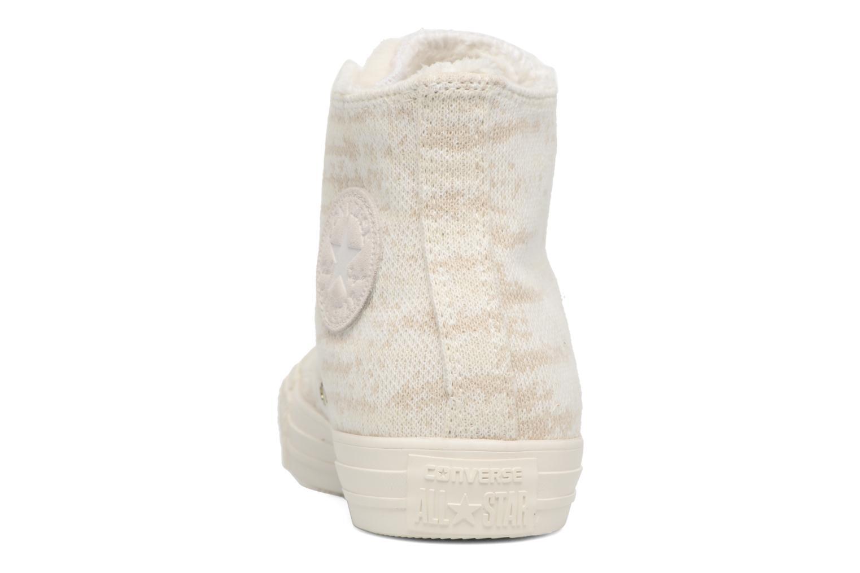 Baskets Converse Ctas Winter Knit/Fur Hi Beige vue droite