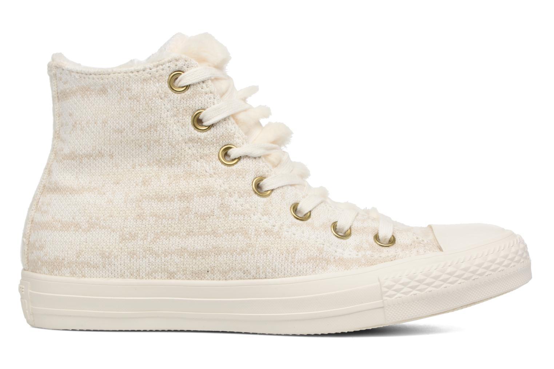 Sneaker Converse Ctas Winter Knit/Fur Hi beige ansicht von hinten