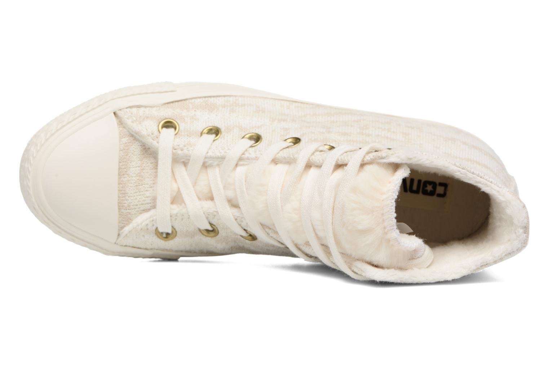 Sneaker Converse Ctas Winter Knit/Fur Hi beige ansicht von links