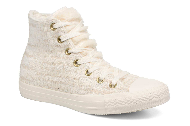 Sneaker Converse Ctas Winter Knit/Fur Hi beige detaillierte ansicht/modell
