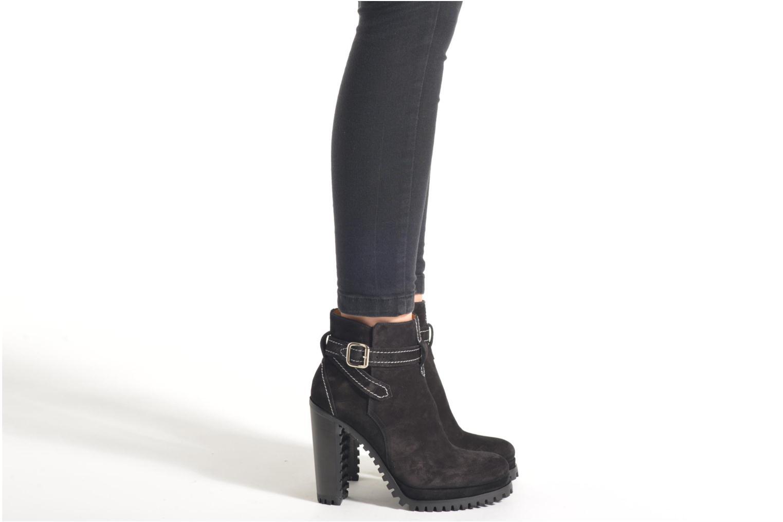 Bottines et boots Free Lance Lery 7 boot ankle steech Noir vue bas / vue portée sac