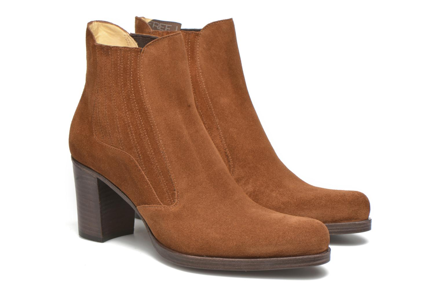 Ankle boots Free Lance Paddy 7 boot elast Brown 3/4 view