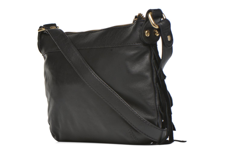 Handbags Mellow Yellow AMANDINA Porté travers à franges Black view from the right