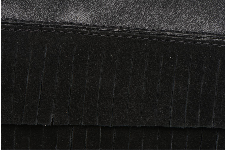 Handbags Mellow Yellow AMANDINA Porté travers à franges Black view from the left