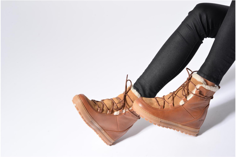 Bottines et boots Aigle Laponwarm Bordeaux vue bas / vue portée sac