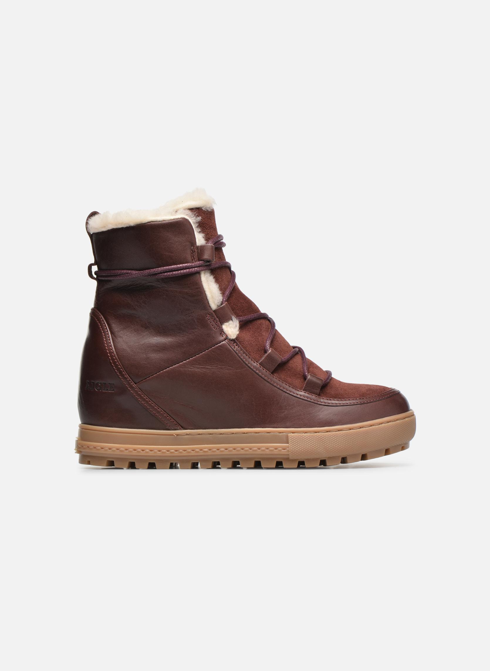 Bottines et boots Aigle Laponwarm Bordeaux vue derrière