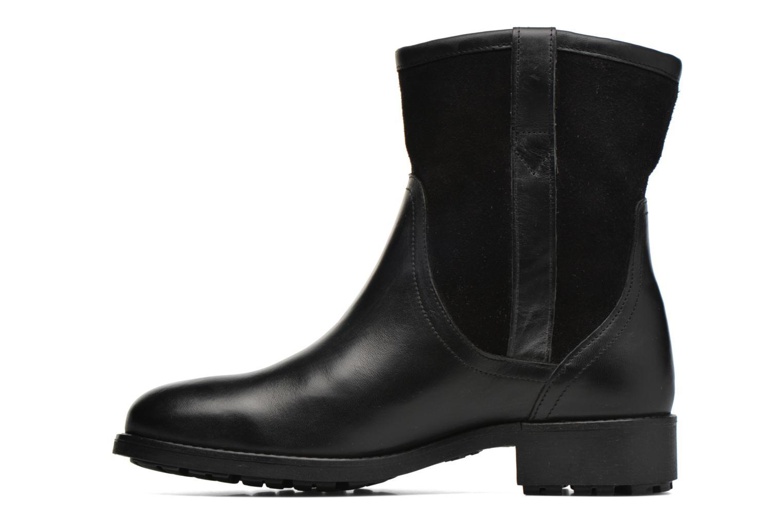 Bottines et boots Aigle Chanteside Low Fur Noir vue face