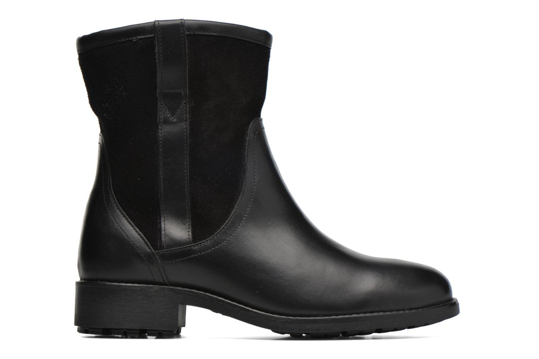 Bottines et boots Aigle Chanteside Low Fur Noir vue derrière