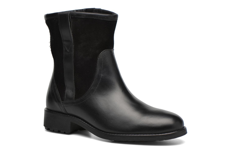 Bottines et boots Aigle Chanteside Low Fur Noir vue détail/paire
