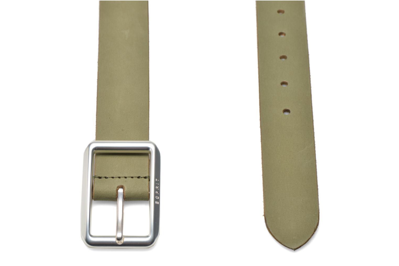 Gürtel Esprit Color basic Belt grün schuhe getragen