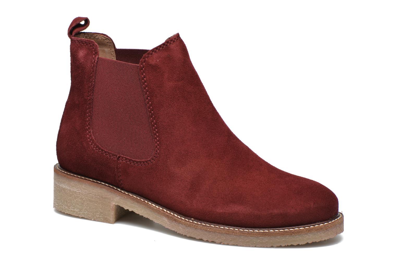 Boots semelle crepe Rouge foncé