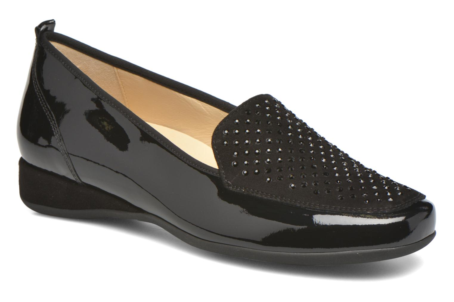 Loafers Hassia Petra 1744 Black detailed view/ Pair view