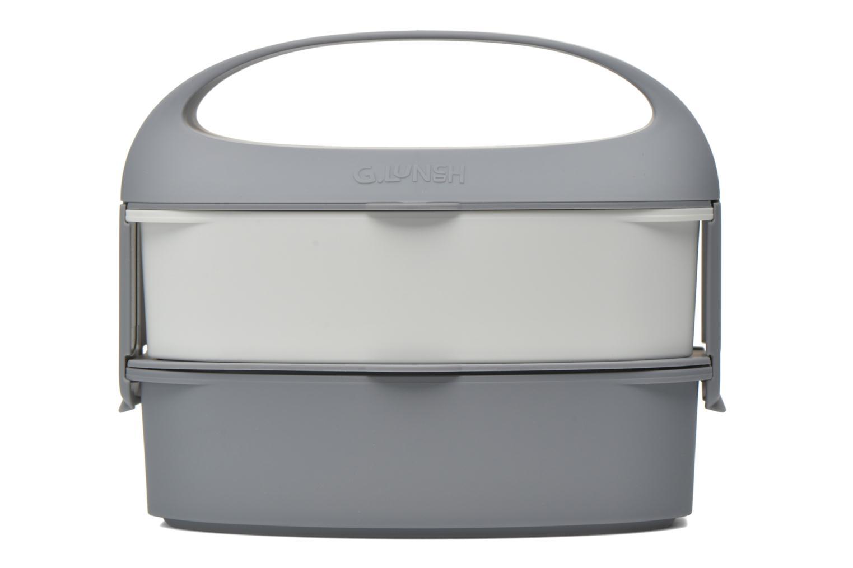 Divers G. Lunch Bento box poignée amovible Gris vue détail/paire