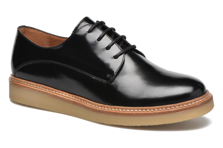 Chaussures à lacets Heyraud Damia Noir vue détail/paire