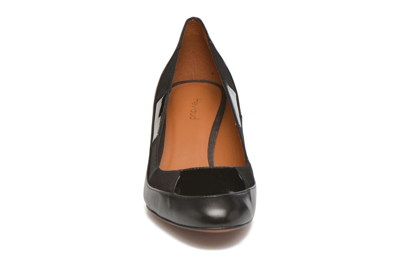 Escarpins Heyraud Danna Noir vue portées chaussures