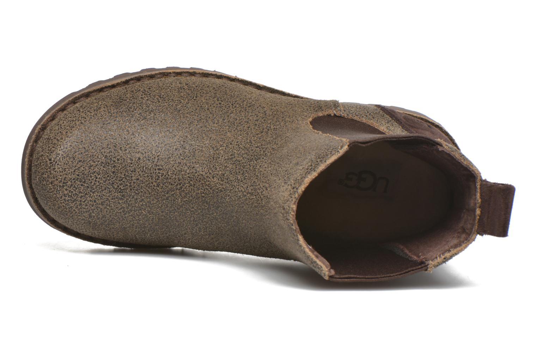 Bottines et boots UGG Callum Bomber Marron vue gauche