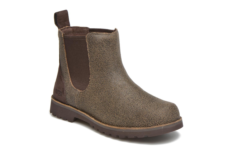 Bottines et boots UGG Callum Bomber Marron vue détail/paire