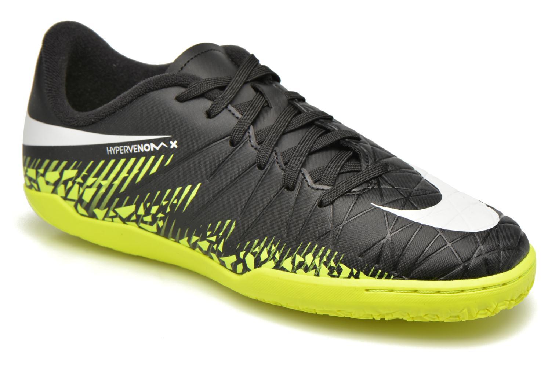 Baskets Nike Jr Hypervenomx Phelon II Ic Noir vue détail/paire