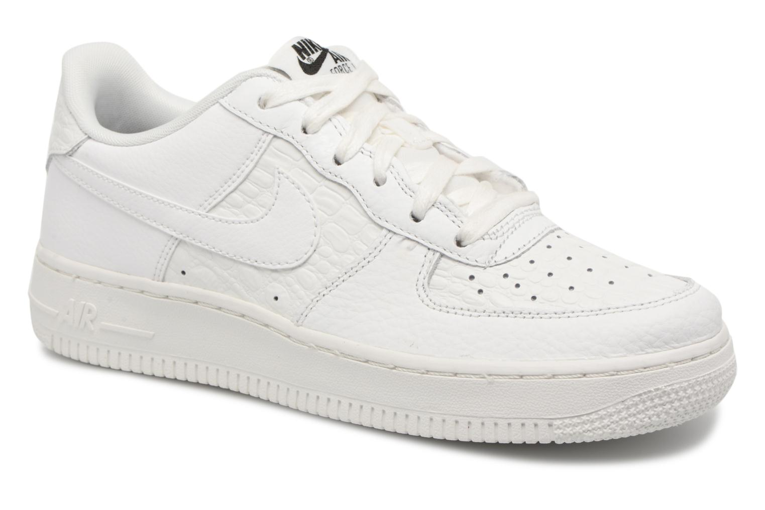 Baskets Nike Air Force 1 Lv8 (Gs) Blanc vue détail/paire