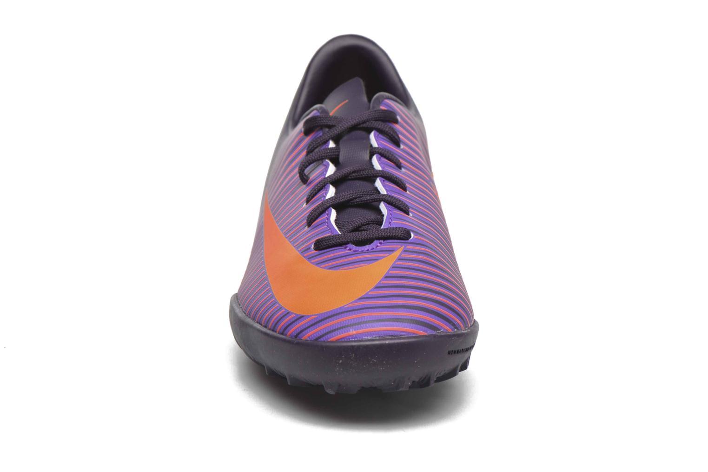 Baskets Nike Jr Mercurialx Vapor XI Tf Violet vue portées chaussures