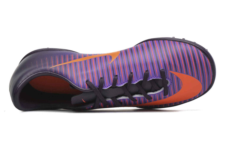Baskets Nike Jr Mercurialx Vapor XI Tf Violet vue gauche