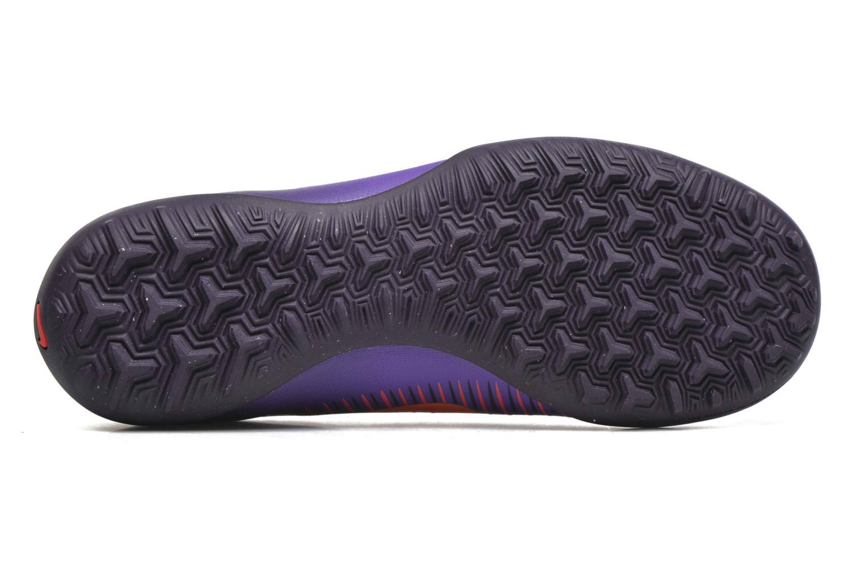 Baskets Nike Jr Mercurialx Vapor XI Tf Violet vue haut