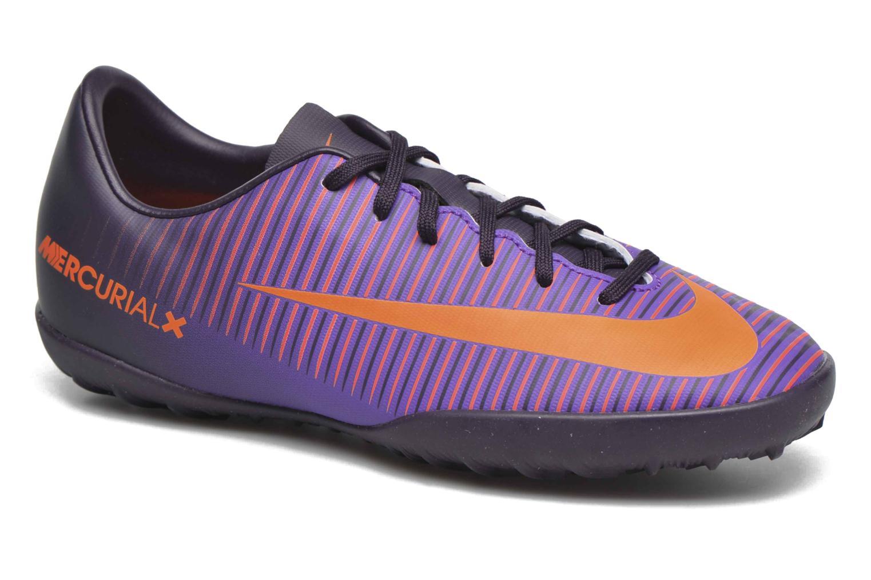 Baskets Nike Jr Mercurialx Vapor XI Tf Violet vue détail/paire
