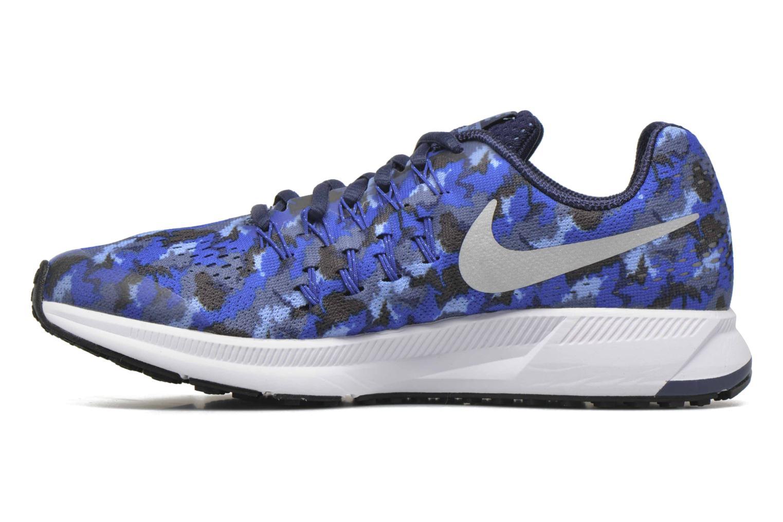 Sneaker Nike Nike Zoom Pegasus 33 Print Gs blau ansicht von vorne