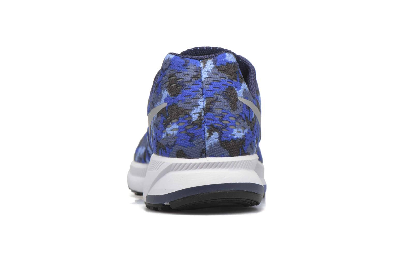 Sneaker Nike Nike Zoom Pegasus 33 Print Gs blau ansicht von rechts