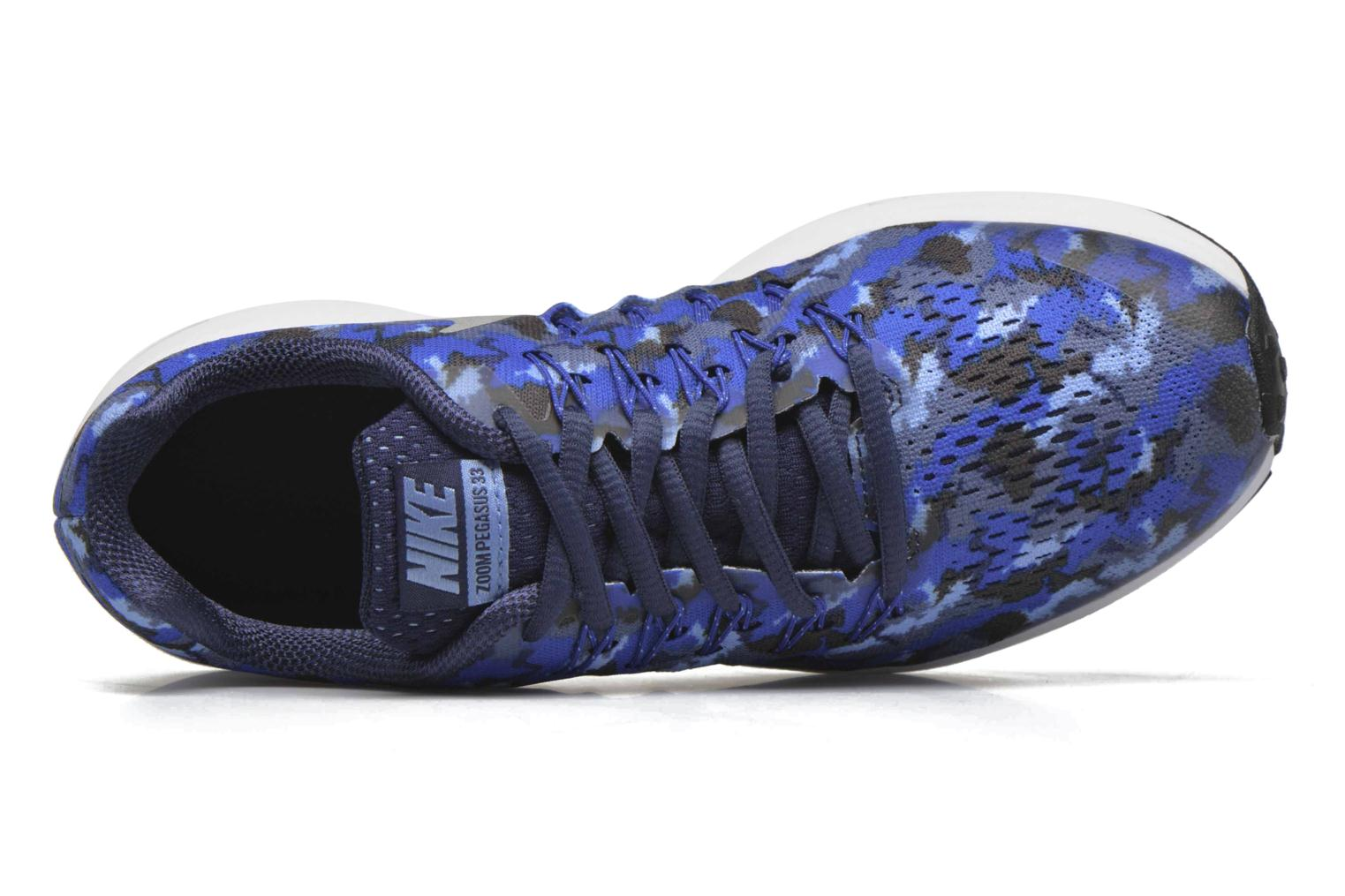 Nike Zoom Pegasus 33 Print Gs Midnight Navy/Metallic Silver-Game Royal
