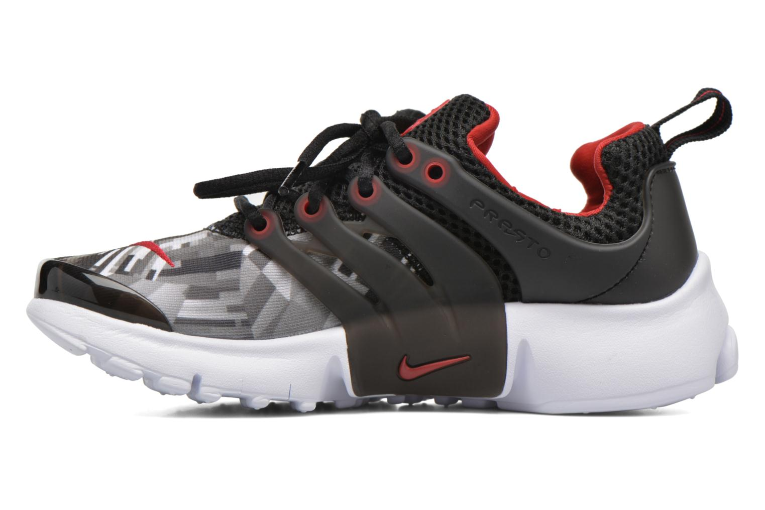 Nike Presto Print (Ps) Black/Gym Red-Wolf Grey-White