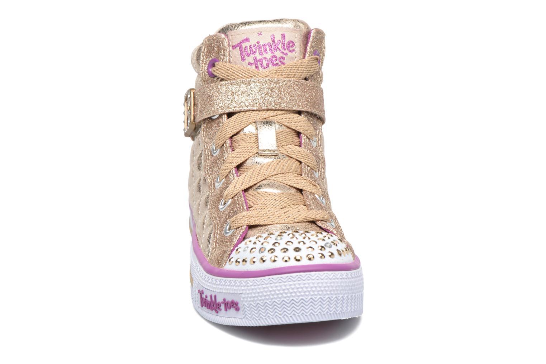 Baskets Skechers Shuffles Sweetheart Sole Or et bronze vue portées chaussures