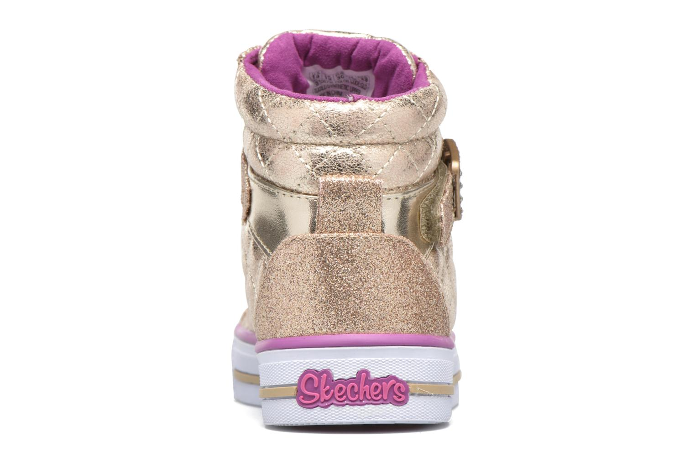Baskets Skechers Shuffles Sweetheart Sole Or et bronze vue droite