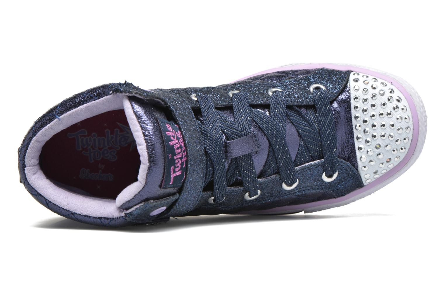 Baskets Skechers Shuffles Sweetheart Sole Bleu vue gauche