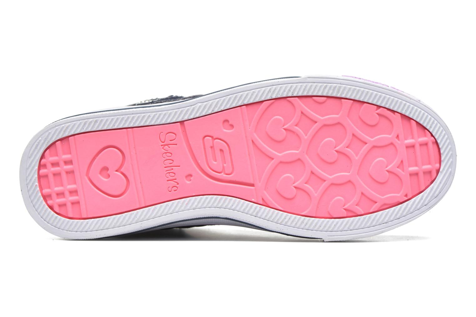 Baskets Skechers Shuffles Sweetheart Sole Bleu vue haut