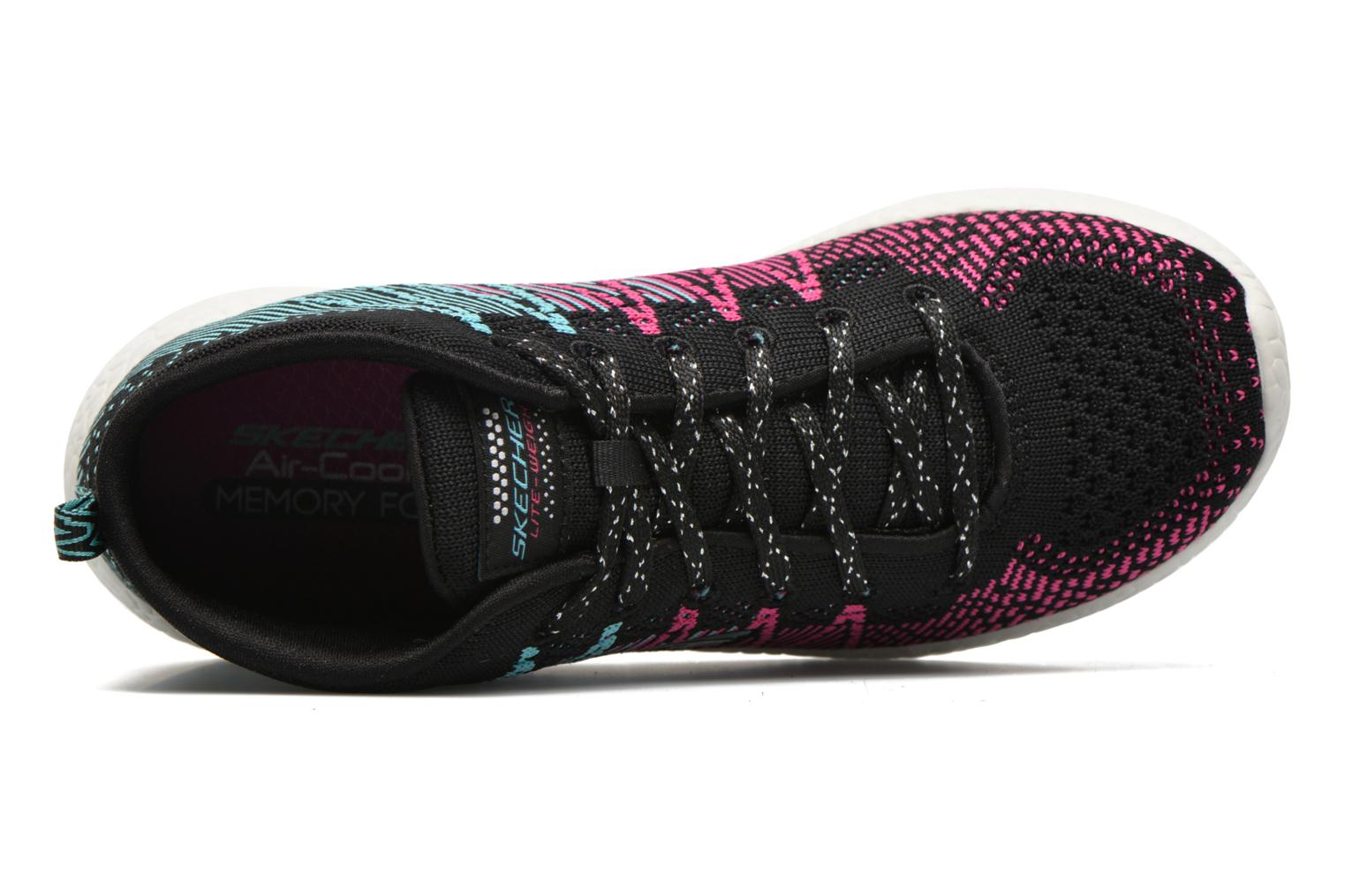 Trainers Skechers Burst Sweet Symphony Black view from the left