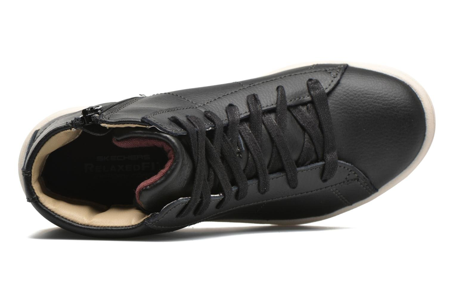Trainers Skechers Outgo Black view from the left