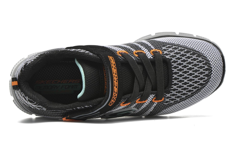 Sneaker Skechers Flex Advantage Master Mind schwarz ansicht von links