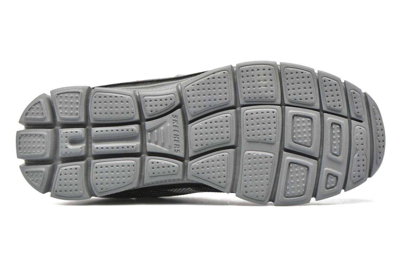 Sneaker Skechers Flex Advantage Master Mind schwarz ansicht von oben