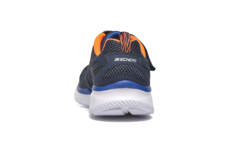 Baskets Skechers Equalizer Quick Race Bleu vue droite