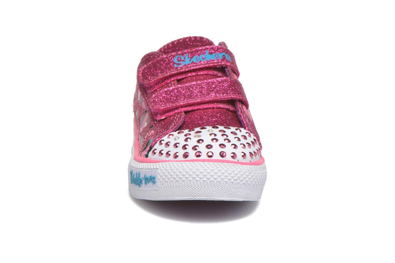 Baskets Skechers Shuffles Glitter N Glitz Little Rose vue portées chaussures