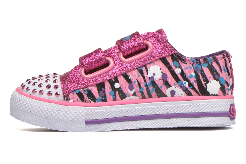 Baskets Skechers Shuffles Glitter N Glitz Little Rose vue face