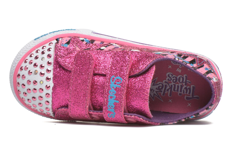 Sneaker Skechers Shuffles Glitter N Glitz Little rosa ansicht von links