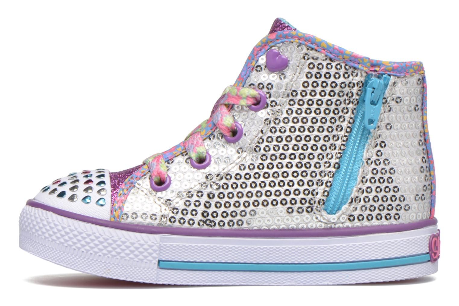Baskets Skechers Shuffles Sweet Wishes Argent vue face