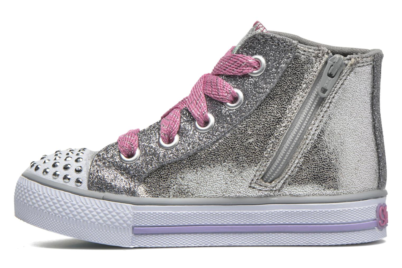 Sneaker Skechers Shuffles Starlet Pose silber ansicht von vorne