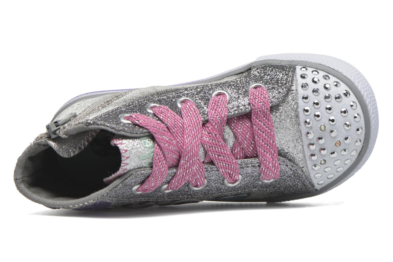 Sneaker Skechers Shuffles Starlet Pose silber ansicht von links