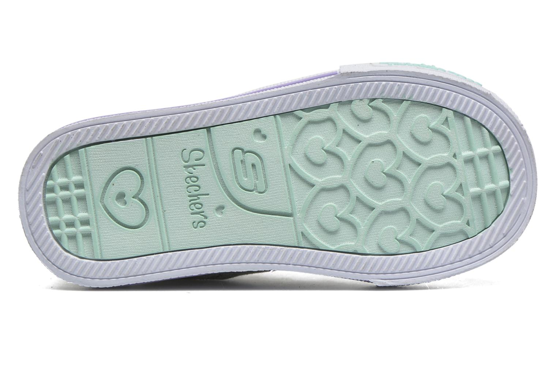 Sneaker Skechers Shuffles Starlet Pose silber ansicht von oben