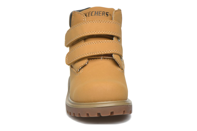 Bottines et boots Skechers Mecca Brazenly Beige vue portées chaussures